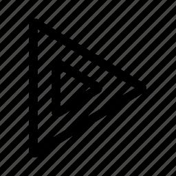 triangle, triangles icon