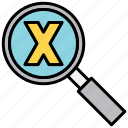 maths, search, zoom icon