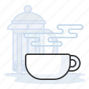 coffee, espresso, french press, latte icon