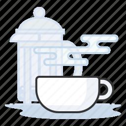 coffee, espresso, french press, latte icon