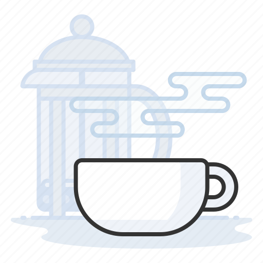 Coffee, espresso, french press, latte icon - Download on Iconfinder