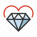 cupid, diamond, heart, love, romance icon