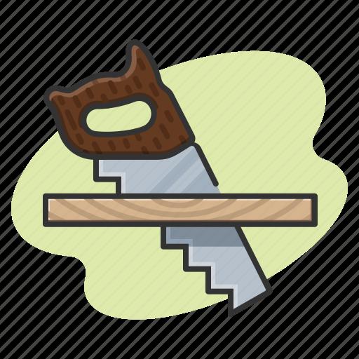 board, carpentry, saw, tools icon