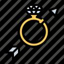 arrow, engagement ring, love, ring, romance, wedding