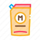 spice, dispenser, fry, preparing, mixer, mayonnaise icon