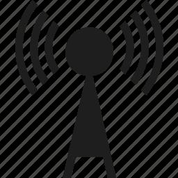antenna, transmitter, wireless icon