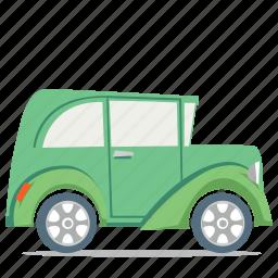 car, driving, retro, transportation icon
