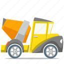 cement, concrete truck, shipment, transport icon