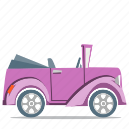 car, convertible, transport icon