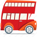 double decker bus, london bus, transportation icon