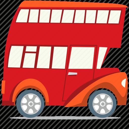 double decker bus, london bus, transportation icon