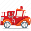 fire engine, fire truck, fireman, transport icon