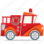 fire engine, fire truck, fireman, transport icon