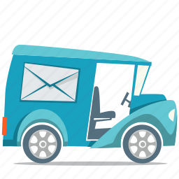 delivery, mail truck, shipping, transport icon