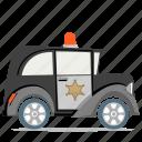 law, police car, transport icon