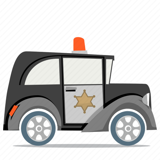 law, police car, transport icon