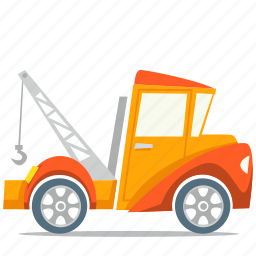 recovery truck, tow truck, transport icon