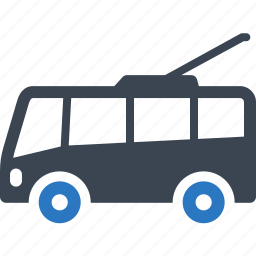 cable transport, public transport, road transport, traffic, transport, trolleybus, vehicle icon