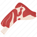 beef cut, beef foreshank, foreshank, meat, meat cut icon