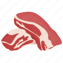 beef, meat, meat collar, meat cut, raw meat icon