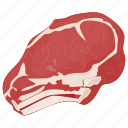 beef cut, beef piece, meat, meat cut, ribeye steak icon