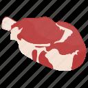 fresh meat, lamb chop, meat cut, mutton, prime rib, rib chop icon