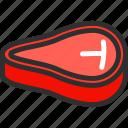 bone, food, fresh, meat, t icon