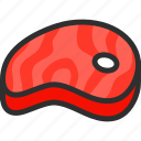 bone, food, fresh, meat, red icon