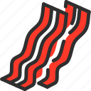bacon, food, meat, pig, pork icon