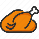chicken, cook, cooked, food, meat, turkey icon