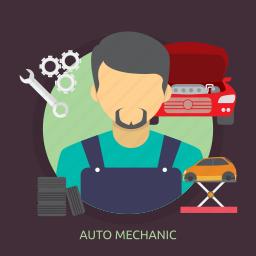 auto, auto mechanic, automotive, mechanic, vehicle icon