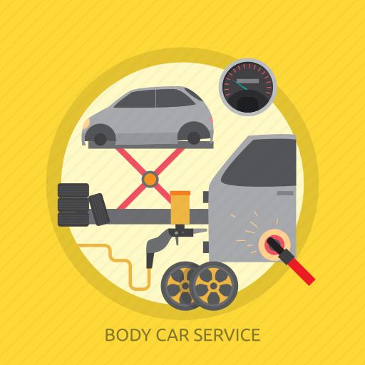 body, body car service, car, service, wheel icon