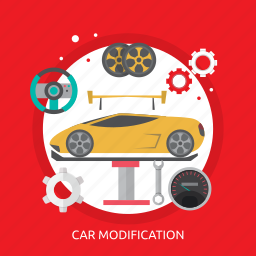 car, car modification, creative, design, modification, part icon