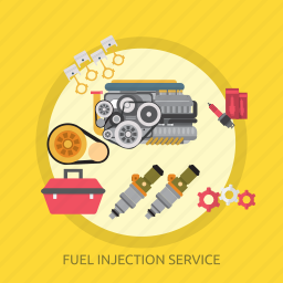 fuel, fuel injection service, injection, service icon