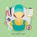 female, girl, lady, mechanic, mechanic lady, woman, work icon