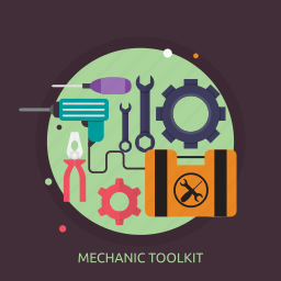 drill, mechanic, mechanic toolkit, pliers, screwdriver, toolkit icon