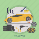 mechanic, repair, safety, service, tire, tire service, vehicle