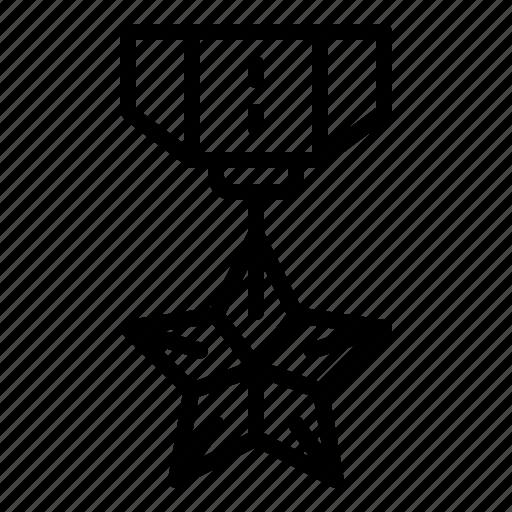 award, honor, medal, star, veteran icon