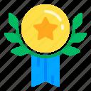 badge, award, wheat, honor, medal