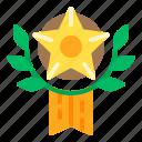 award, badge, honor, medal, wheat