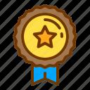 award, badge, honor, medal, military, veteran icon
