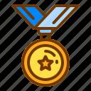 award, badge, honor, medal, veteran, winner icon