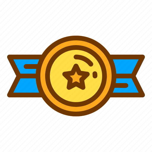 award, badge, honor, medal, ribbon, veteran icon