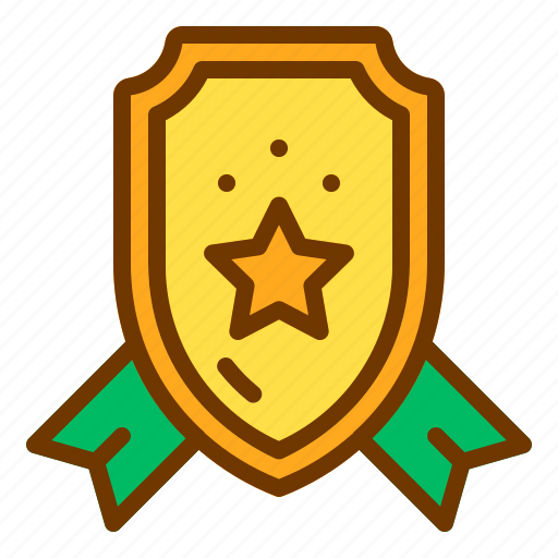 badge, honor, medal, ribbon, shield, veteran icon