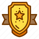 award, badge, honor, medal, star, veteran icon