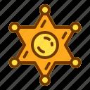 badge, medal, police, sheriff, shield, veteran icon