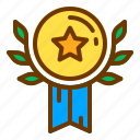award, badge, honor, medal, wheat icon