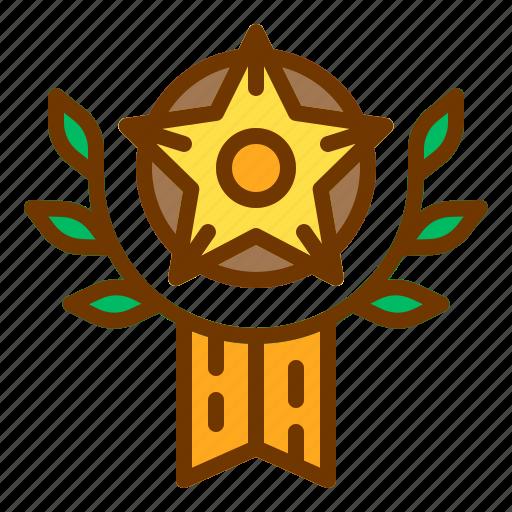 award, badge, honor, medal, veteran, wheat icon