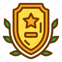 badge, honor, medal, star, veteran, wheat icon