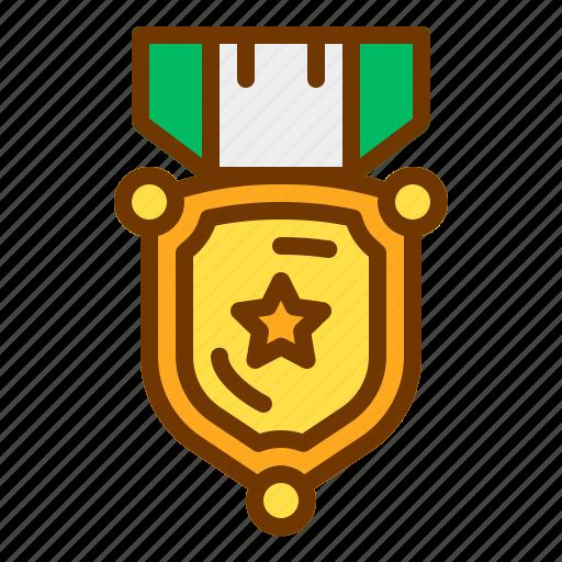 award, badge, honor, medal, shield, veteran icon